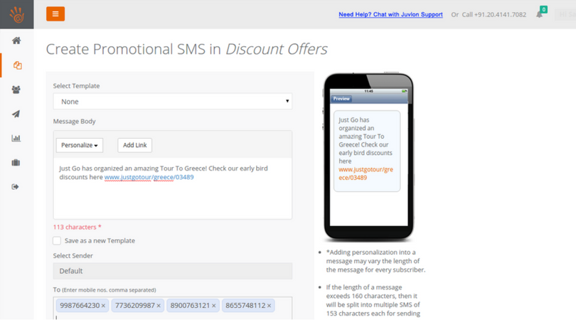 Juvlon SMS Marketing software