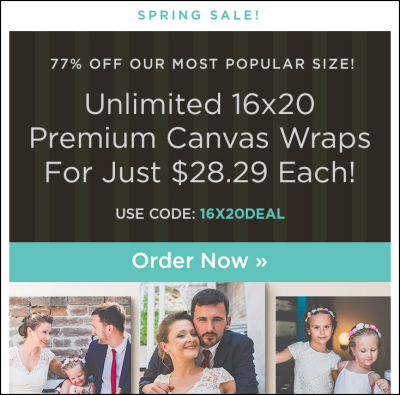 Spring Sale- Email Marketing Example