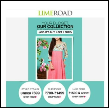 Limeroad Email Marketing Example