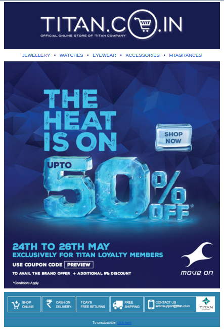 Titan Store Email Marketing Example