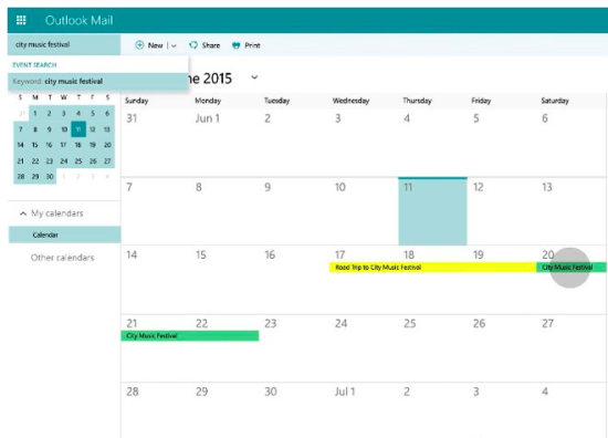 Improved Calendar Feature