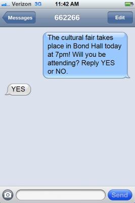 RSVP SMS