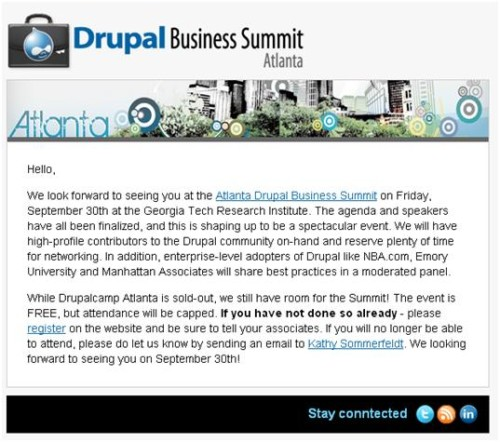 Drupal Business Summit Reminder