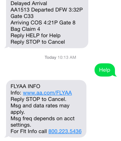 Flight Delay Rapid Reach SMS