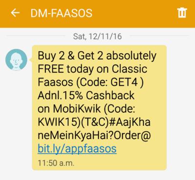 Fassos SMS Campaign