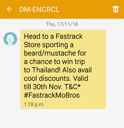Fastrack SMS Campaign