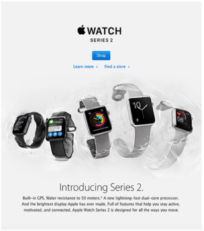 Apple- New Product Introduction Email Example