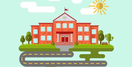 School-or-University-Building-Vector-Template