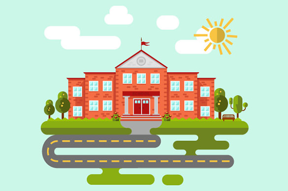 School-or-University-Building-Vector-Template