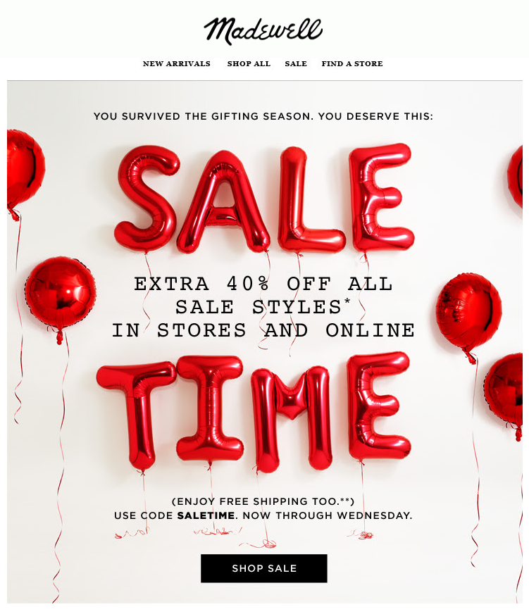 Example of email font