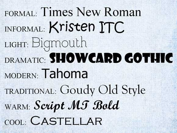 Email fonts