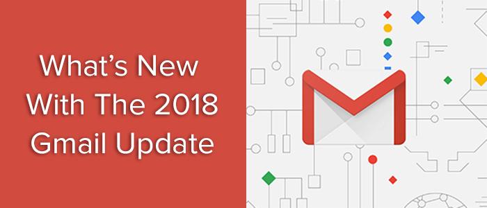 Gmail update 2018