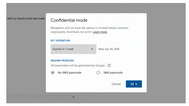 Confidential Feature In New Gmail