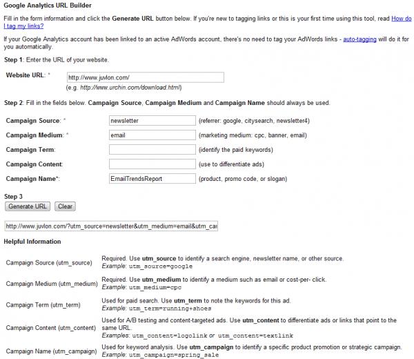 Google URL Tool Builder