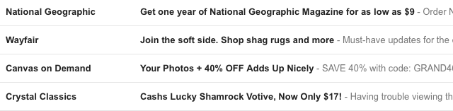 Catchy Subject Line Example