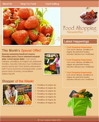 Food Shopping Orange Theme