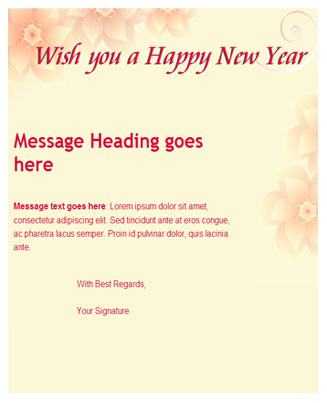 Greeting New Year Theme