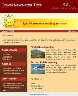 Travel Brown & Yellow Theme