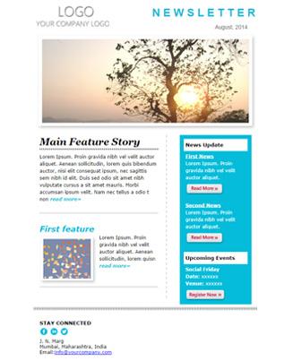 Newsletter Skyblue Theme