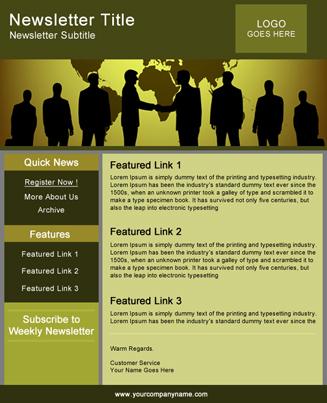 Newsletter  Green Theme