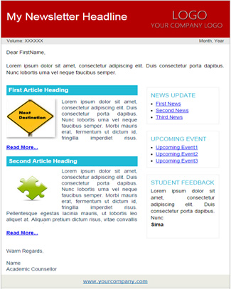 Newsletter Blue Theme