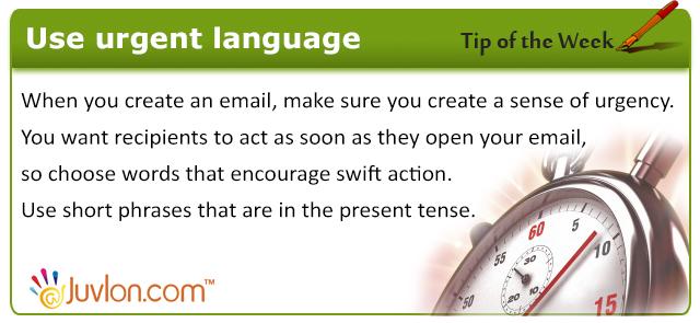 Use-urgent-language