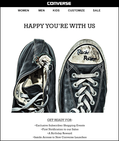 Converse Welcome Emall Example