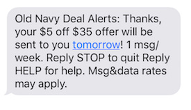 Opt-Out SMS Example