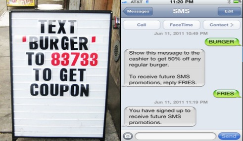 Text Message Marketing Example