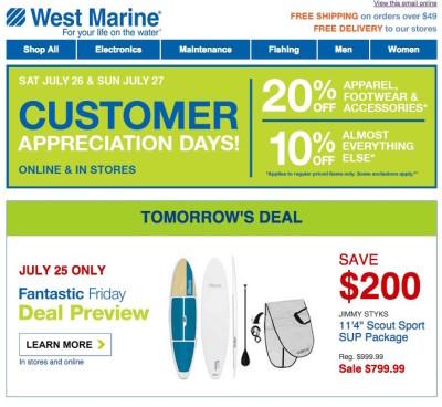 Customer Appreciation Event Emails