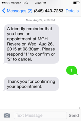 Appointment Text SMS