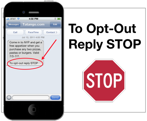 Opting Out Customers in SMS Campaigns