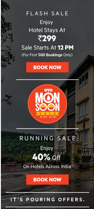 Oyo Monsoon Sale Mail