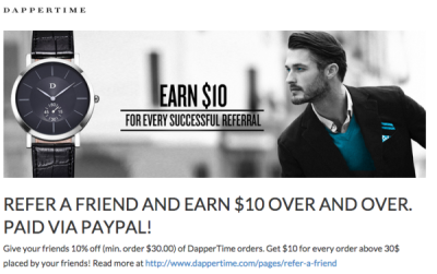 DapperTime Referral Reward Email