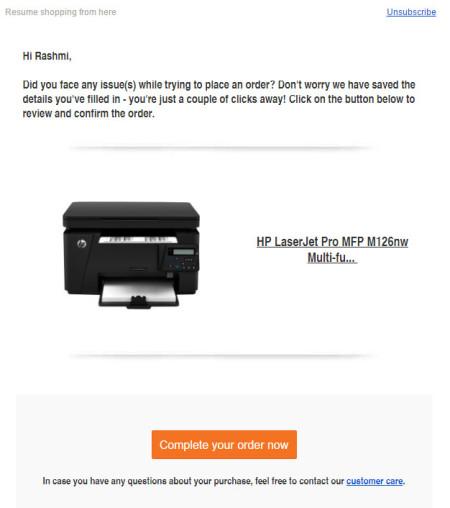 Cart Abandonment Email Marketing