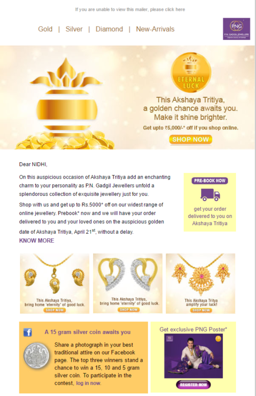 Localized Email Marketing Example