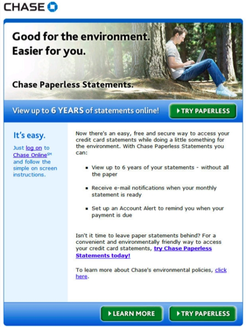 Chase Paperless Statement