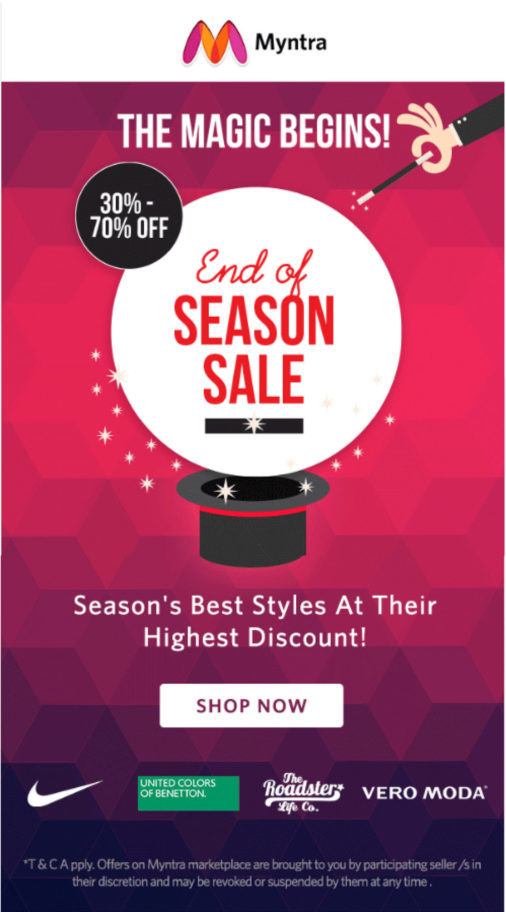 Myntra-email