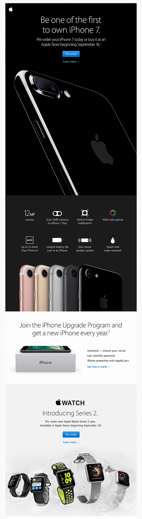 Apple- Offer pre-orders Email Example