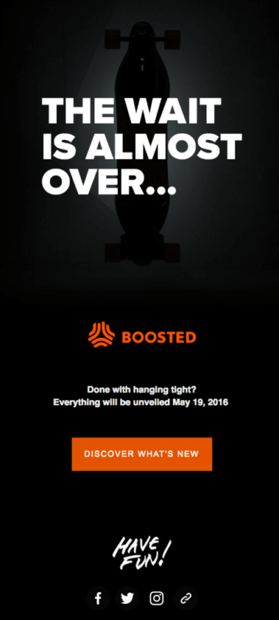 Boosted Email Marketing Example