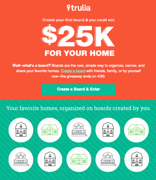 Trulia Contest Email Example