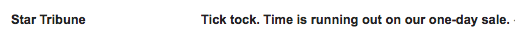 Urgent Subject Line Example