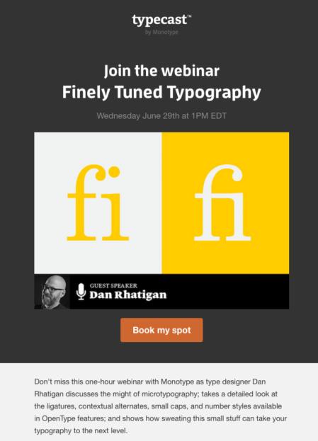 Webinar Invitation Example