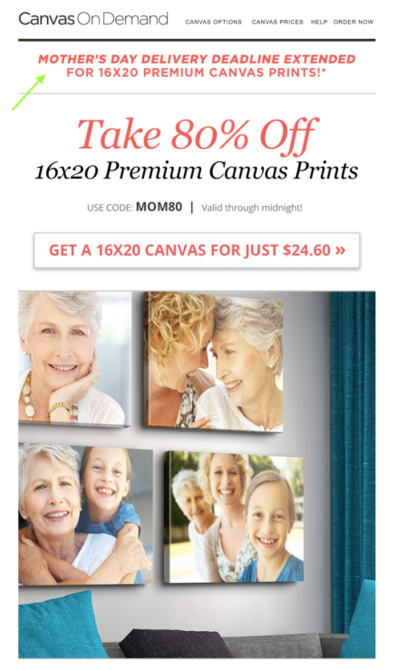 Canvas Printing Company- Extended Deal Example