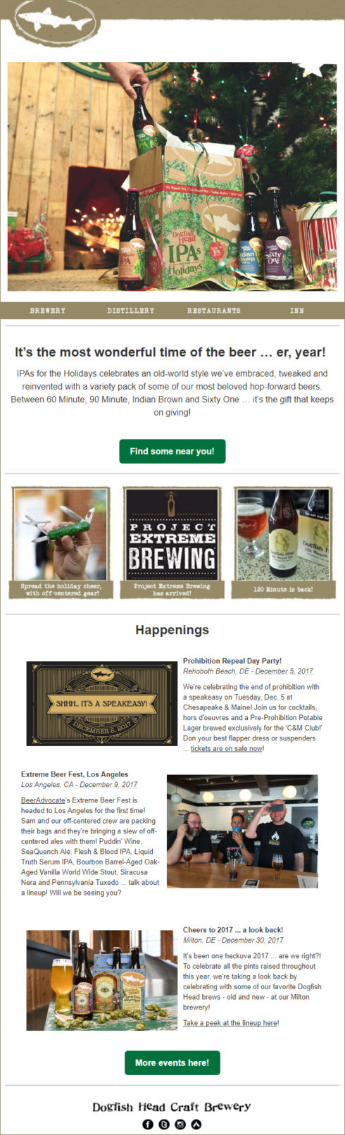 DogFish's Email Newsletter Example