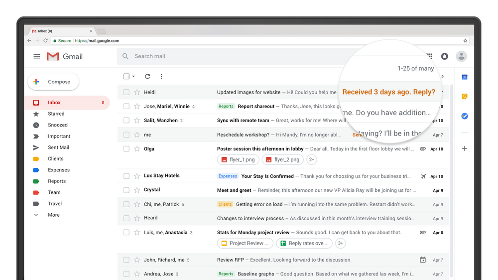 Notification in new Gmail