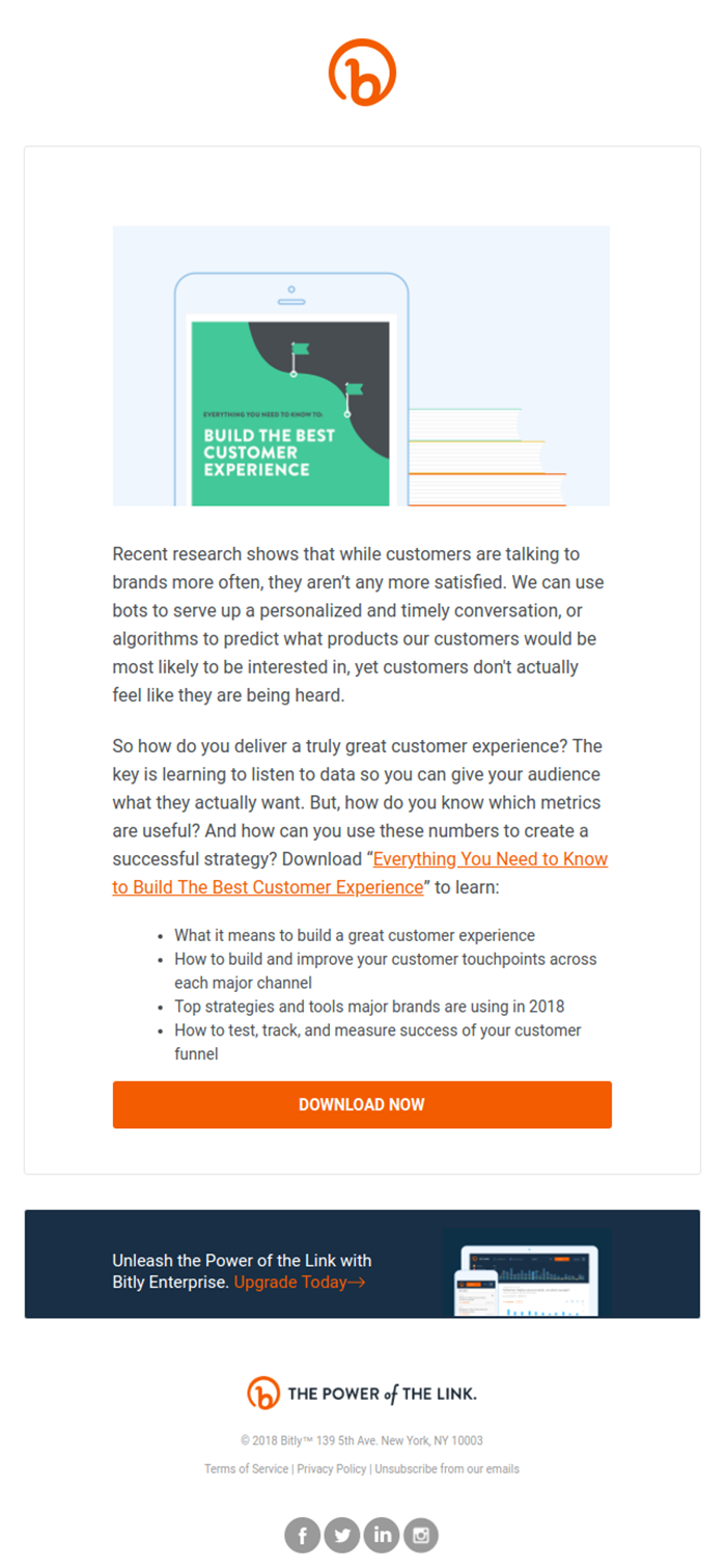 Email example of gated content email